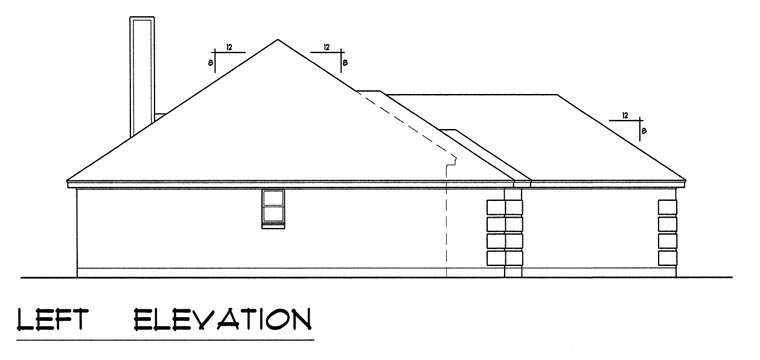 Traditional House Plan 60826 with 4 Beds, 2 Baths, 2 Car Garage Picture 2