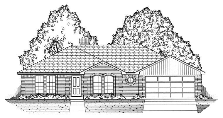 European, Traditional House Plan 60827 with 3 Beds, 2 Baths, 2 Car Garage Picture 4