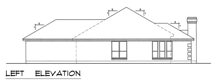 European, Traditional House Plan 60829 with 3 Beds, 2 Baths, 2 Car Garage Picture 1