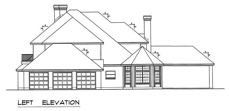 European, Traditional House Plan 60831 with 5 Beds, 5 Baths, 3 Car Garage Picture 1