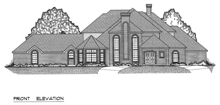 European, Traditional House Plan 60831 with 5 Beds, 5 Baths, 3 Car Garage Picture 3