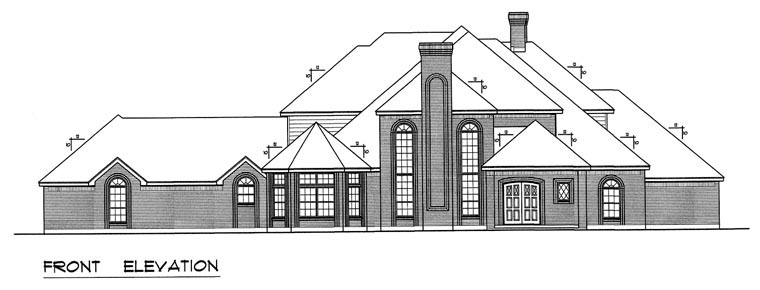 European, Traditional House Plan 60831 with 5 Beds, 5 Baths, 3 Car Garage Picture 4