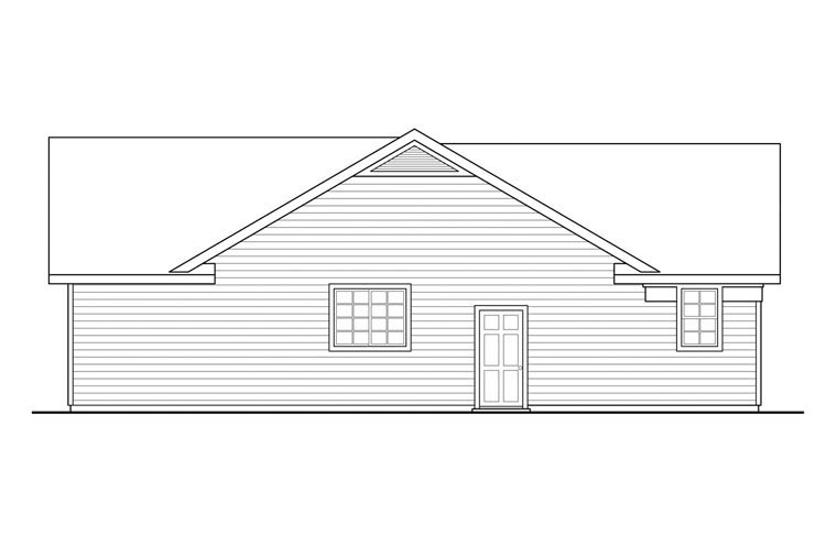 Contemporary, Country, Ranch House Plan 60950 with 3 Beds, 2 Baths, 2 Car Garage Picture 1