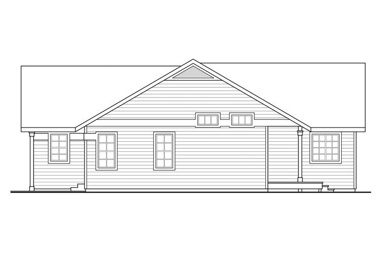 Contemporary, Country, Ranch House Plan 60950 with 3 Beds, 2 Baths, 2 Car Garage Picture 2