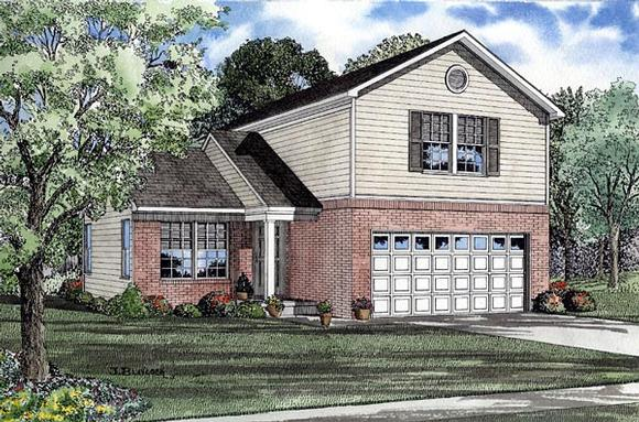 Traditional House Plan 61213 with 3 Beds, 3 Baths, 2 Car Garage Elevation