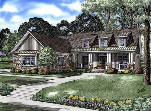 Country House Plan 61332 with 4 Beds, 4 Baths, 2 Car Garage Elevation