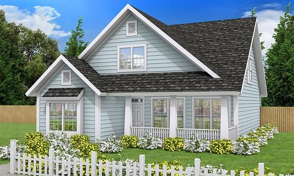 Cottage, Country, Traditional House Plan 61453 with 3 Beds, 3 Baths Elevation