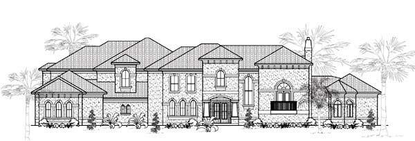 Mediterranean House Plan 61887 with 5 Beds, 6 Baths, 4 Car Garage Elevation
