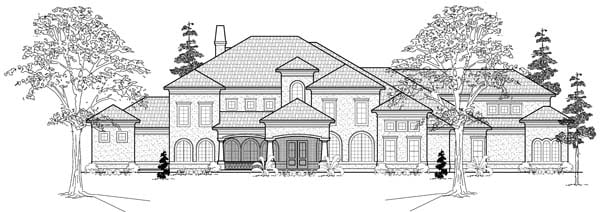 House Plan 61890 with 7 Beds, 7 Baths, 4 Car Garage Elevation