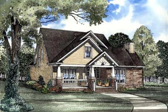 Country, Craftsman, Traditional House Plan 62083 with 3 Beds, 3 Baths, 2 Car Garage Elevation