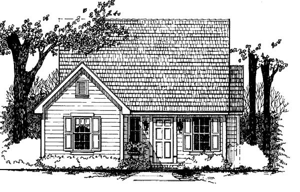 Cape Cod House Plan 62400 with 3 Beds, 1 Baths Elevation
