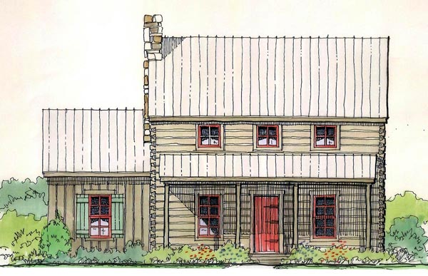 Cabin House Plan 62402 with 3 Beds, 2 Baths Elevation