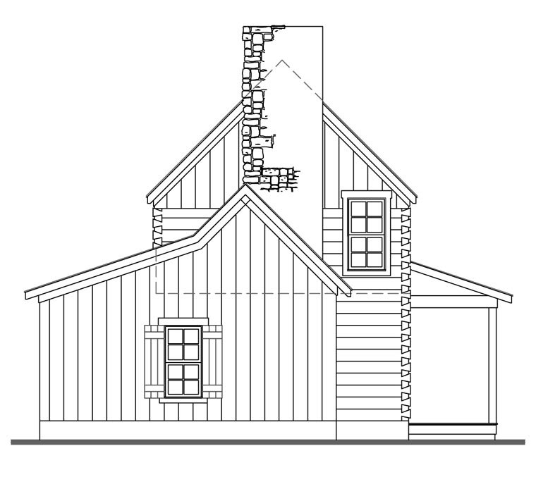 Cabin House Plan 62402 with 3 Beds, 2 Baths Picture 1