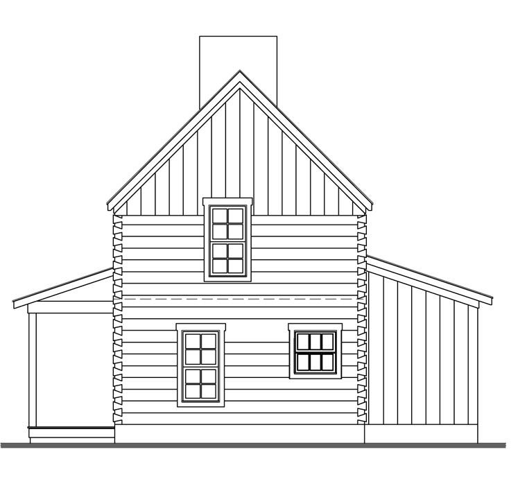 Cabin House Plan 62402 with 3 Beds, 2 Baths Picture 2