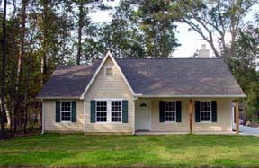 Traditional House Plan 62406 with 3 Beds, 2 Baths Elevation