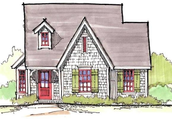 Cape Cod House Plan 62414 with 3 Beds, 1 Baths Elevation