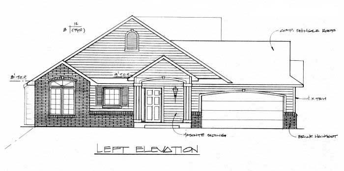 One-Story, Traditional Multi-Family Plan 62604 with 2 Beds, 2 Baths, 2 Car Garage Picture 1