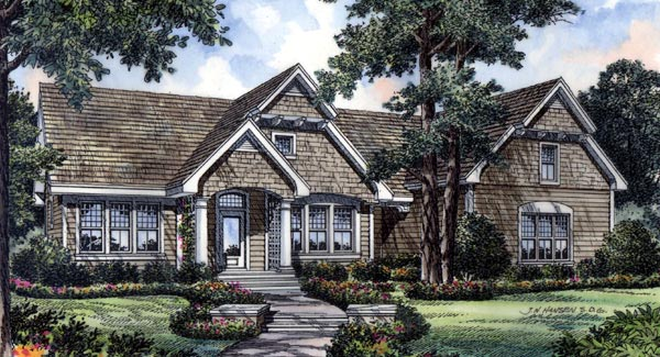 Bungalow, Traditional House Plan 63049 with 3 Beds, 3 Baths, 2 Car Garage Elevation