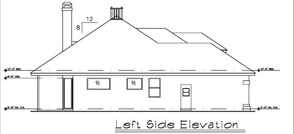 Contemporary, Florida, Mediterranean, Narrow Lot, One-Story House Plan 63198 with 3 Beds, 2 Baths, 2 Car Garage Picture 1