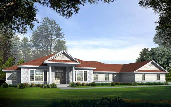Southern House Plan 63550 with 4 Beds, 3 Baths, 4 Car Garage Elevation