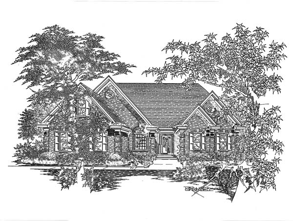 House Plan 63700 with 3 Beds, 2 Baths, 2 Car Garage Elevation
