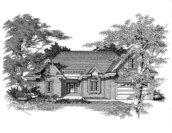 House Plan 63704 with 3 Beds, 3 Baths, 2 Car Garage Elevation