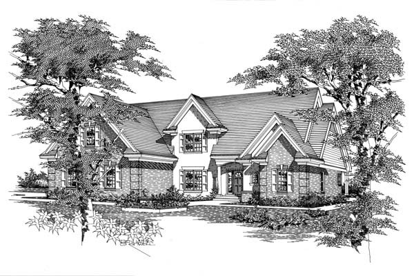 House Plan 63706 with 4 Beds, 4 Baths, 3 Car Garage Elevation