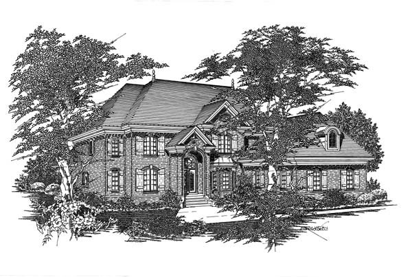 House Plan 63714 with 5 Beds, 5 Baths, 3 Car Garage Elevation