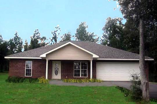 Traditional House Plan 64550 with 3 Beds, 2 Baths, 2 Car Garage Picture 2