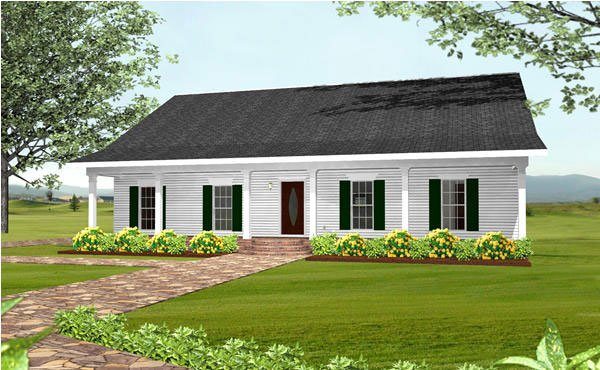 Country, Southern House Plan 64551 with 3 Beds, 2 Baths, 2 Car Garage Elevation