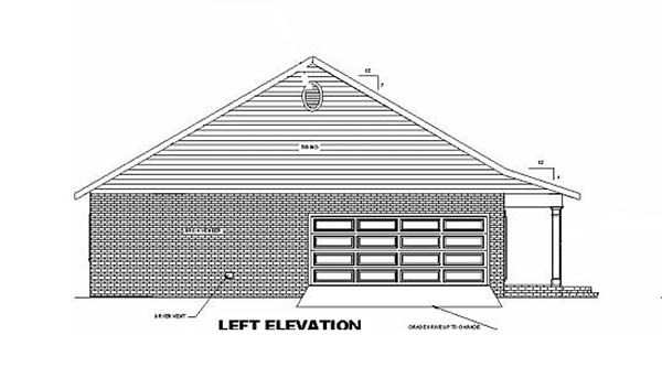 Country, Southern House Plan 64551 with 3 Beds, 2 Baths, 2 Car Garage Picture 2