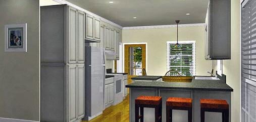 Cottage, Country House Plan 64586 with 2 Beds, 2 Baths Picture 1