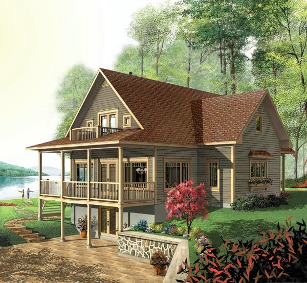 Country, Craftsman House Plan 64808 with 3 Beds, 4 Baths Elevation