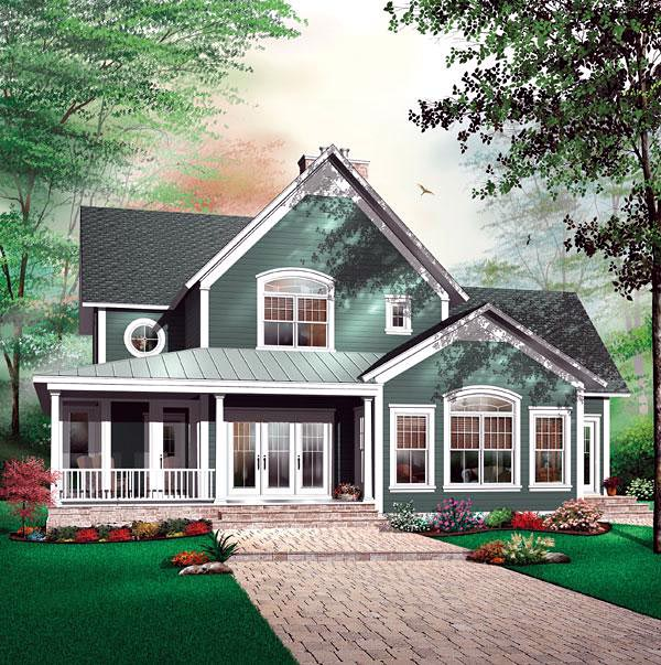 Florida House Plan 64812 with 4 Beds, 4 Baths Elevation
