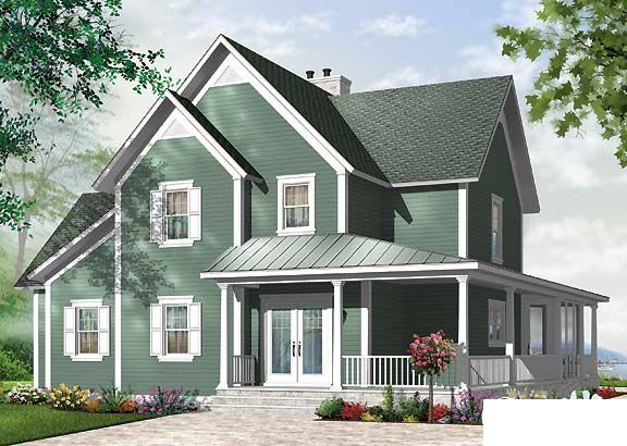 Florida House Plan 64812 with 4 Beds, 4 Baths Rear Elevation
