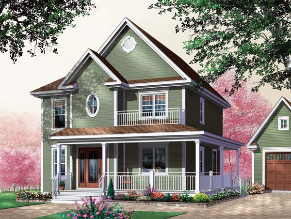 House Plan 64942 with 3 Beds, 2 Baths Elevation