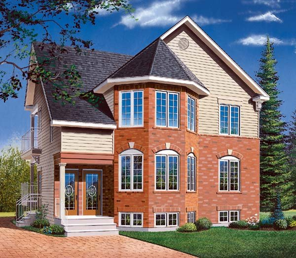 Traditional Multi-Family Plan 64970 with 6 Beds, 3 Baths Elevation