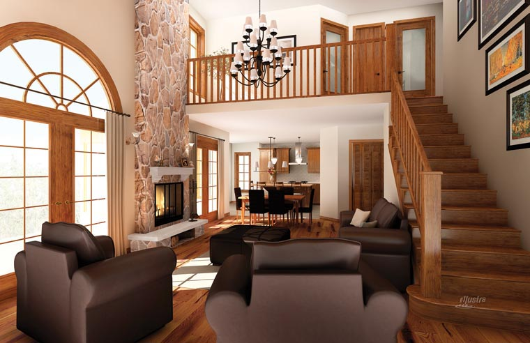 Coastal, Country, Craftsman House Plan 64981 with 5 Beds, 4 Baths, 2 Car Garage Picture 2