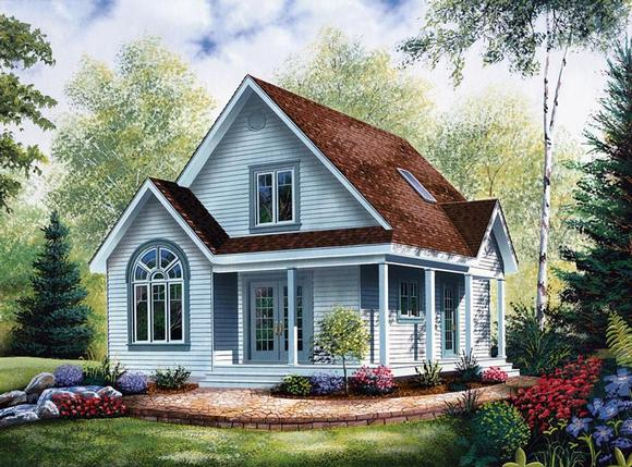 Cabin, Country House Plan 64983 with 2 Beds, 2 Baths Elevation