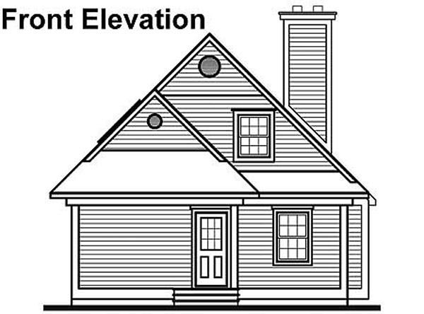 Coastal, Cottage, Traditional, Victorian House Plan 64985 with 3 Beds, 2 Baths Rear Elevation