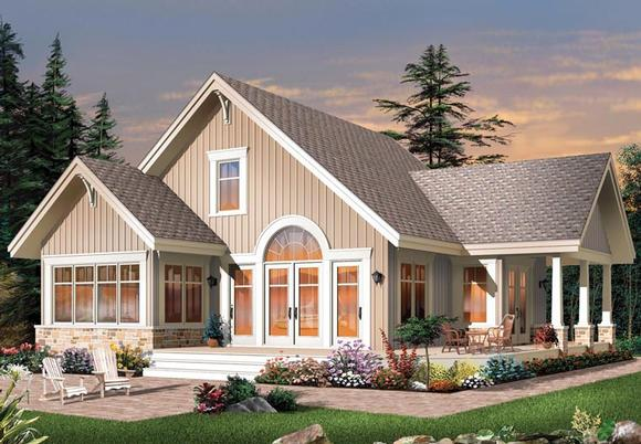 Craftsman House Plan 64988 with 3 Beds, 2 Baths Elevation