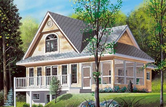 Country, Craftsman House Plan 65002 with 2 Beds, 2 Baths Elevation