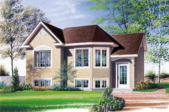 Narrow Lot, One-Story, Southern House Plan 65060 with 2 Beds, 1 Baths Elevation