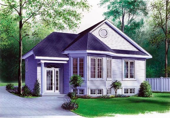 Narrow Lot, One-Story, Victorian House Plan 65061 with 2 Beds, 1 Baths Elevation