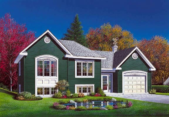 One-Story, Traditional House Plan 65070 with 2 Beds, 1 Baths, 1 Car Garage Elevation