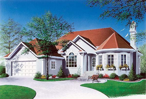 Traditional, Victorian House Plan 65085 with 2 Beds, 1 Baths, 1 Car Garage Elevation