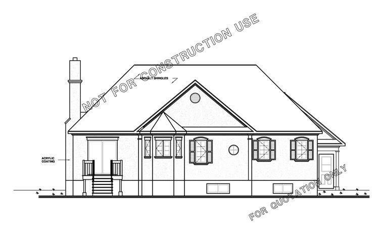 Traditional, Victorian House Plan 65085 with 2 Beds, 1 Baths, 1 Car Garage Rear Elevation