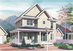 Country, Traditional House Plan 65203 with 3 Beds, 2 Baths Elevation