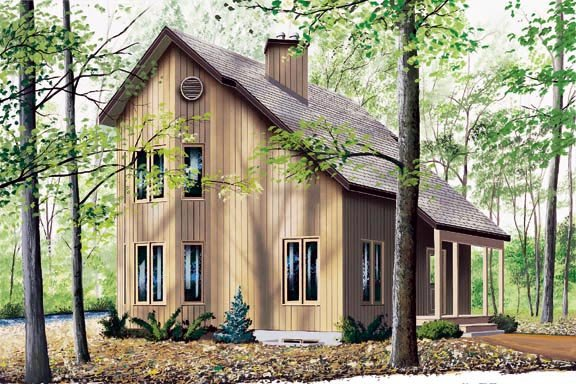 Contemporary House Plan 65232 with 2 Beds, 2 Baths Elevation