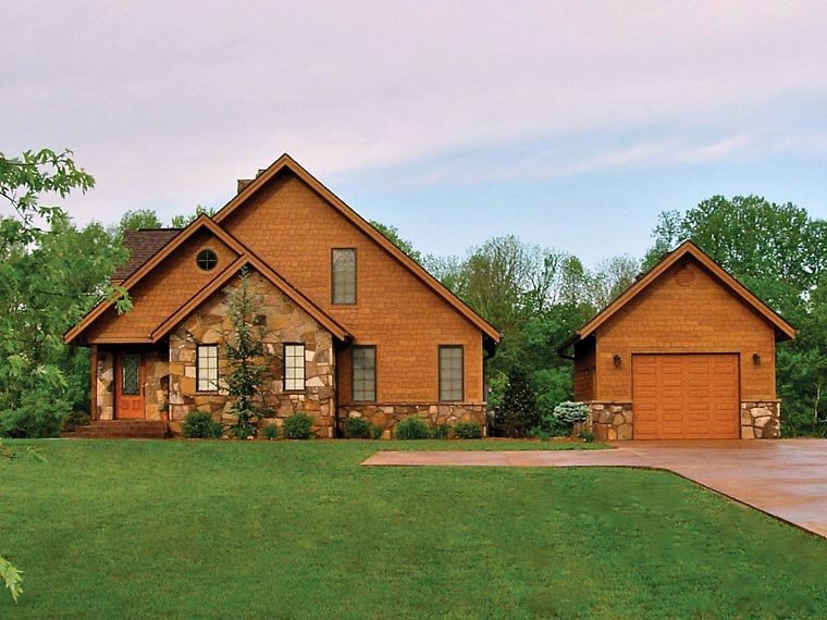 Bungalow, Cottage, Country, Craftsman House Plan 65246 with 3 Beds, 2 Baths Picture 1